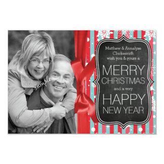 Kerstmis van het Bord en van het Lint van de Foto Kaart