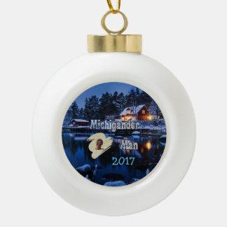 Kerstmis van Michigander! Keramische Bal Ornament