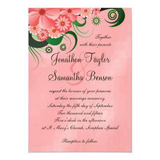 """Ketmie 5"""" floral rose x 7"""" invitations de mariage"""