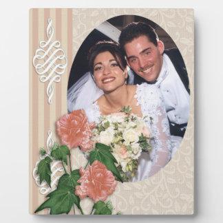 Ketmie de plaque de photo de portrait de mariage plaque d'affichage