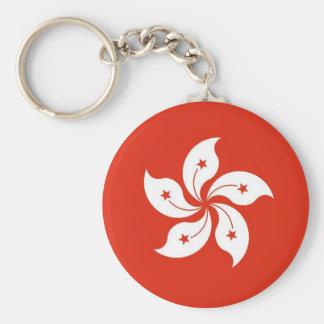 Keychain met Vlag van Hong Kong, China Sleutelhanger