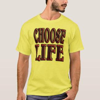 kies het leven. de jaren '80 stijl t shirt
