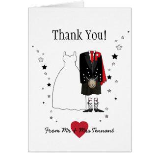 Kilt écossais de jeune mariée et de marié de carte