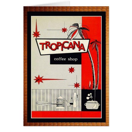 Kitsch vintage de café-restaurant ! carte de vœux