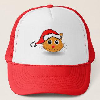 Kitty dans le casquette de Père Noël