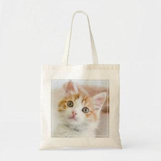 Kitty observé par bleu doux sac en toile budget