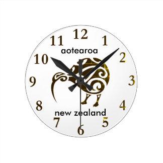 kiwi de la Nouvelle Zélande d'aotearoa Horloge Ronde