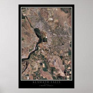 Klamath tombe l'Orégon de la carte de satellite de
