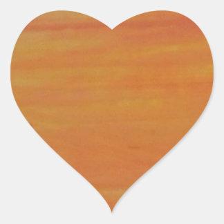 Klantgerichte Oranje Achtergrond Hart Sticker