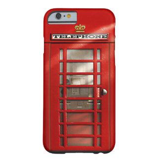 Klassieke Britse Rode iPhone 6 van de Telefooncel Barely There iPhone 6 Hoesje
