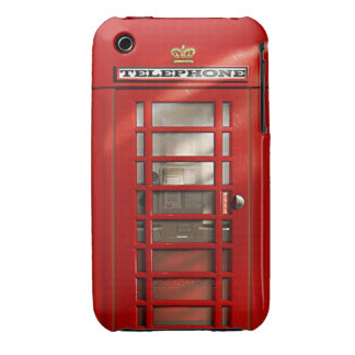 Klassieke Britse Rode Telefooncel iPhone 3 Hoesjes
