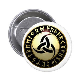 Klaxon triple d'Odin Badge Rond 5 Cm