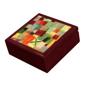 Klee - aquarelle avec la croix vert-foncé boîte à souvenirs