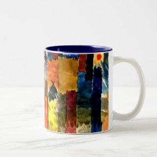 Klee - avant la ville. Peinture de Paul Klee Tasse 2 Couleurs