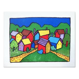 Kleur 10-8 van Vermont door Piliero 10,8x13,9 Uitnodiging Kaart