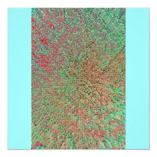 Kleur 13,3x13,3 Vierkante Uitnodiging Kaart