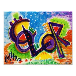 KLEUR door Piliero 10,8x13,9 Uitnodiging Kaart