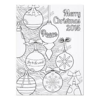 Kleur Uw Eigen Kerstmis 16,5x22,2 Uitnodiging Kaart