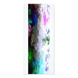 kleur van de kaarten van de liefdenota 10,2x23,5 uitnodiging kaart