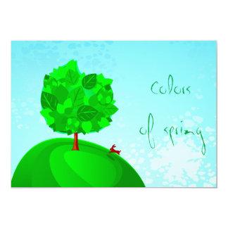 Kleuren van de lente, uitnodiging