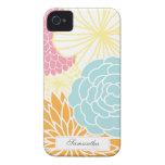 Kleurrijk Mod. Bloemen iPhone 4 Case