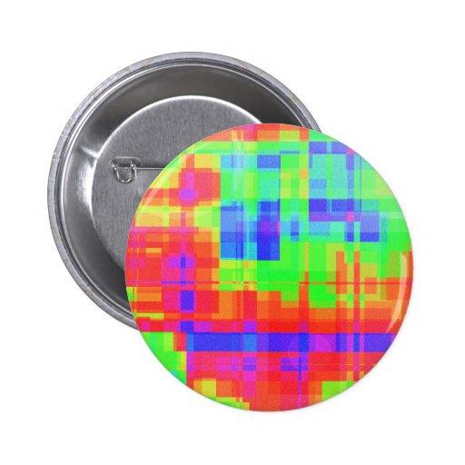 Kleurrijk modern mozaïekpatroon speld button