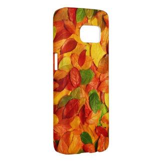 kleurrijke bladeren samsung galaxy s7 hoesje