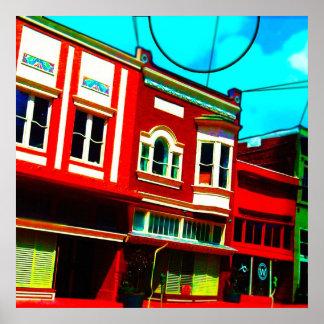 Kleurrijke Storefront Afdruk