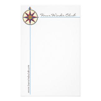Knappe ZeevaartKantoorbehoeften met Antiek Kompas Briefpapier