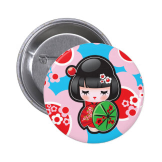Knoop van Doll van Kawaii de Japanse Speldbutton