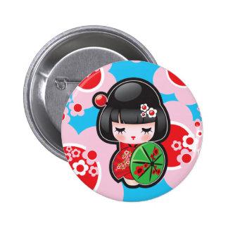 Knoop van Doll van Kawaii de Japanse Ronde Button 5,7 Cm