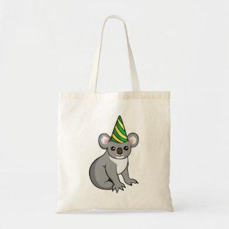 Koala mignon d'anniversaire dans le sac