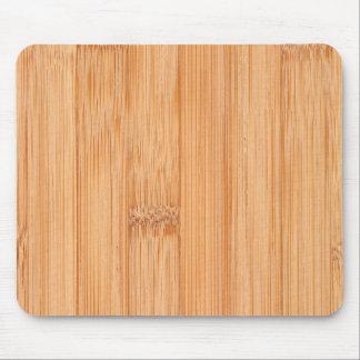 Koele lichtbruine bamboe houten druk muismat