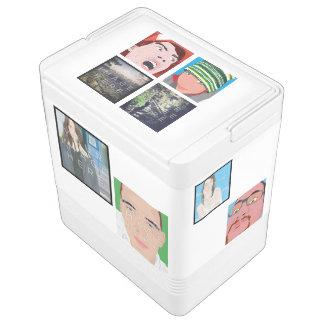 Koeler van de Iglo van de Foto van het Mozaïek van Igloo Koelbox
