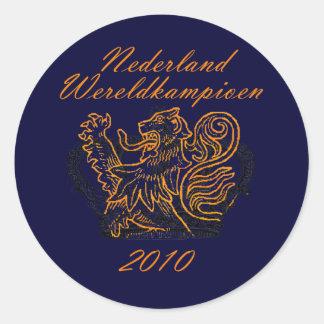 Koningen van Football Oranje Nederland Ronde Stickers
