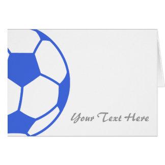Voetbal notitiekaarten - Sterke witte werpen en de bal ...