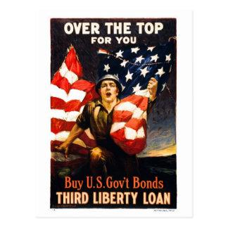 Koop de Banden van de Oorlog van de V.S., over de Briefkaart
