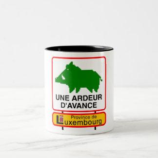 Kopje - PROVINCIE VAN LUXEMBURG Tweekleurige Koffiemok