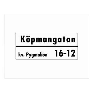 Köpmangatan, Stockholm, plaque de rue suédoise Carte Postale