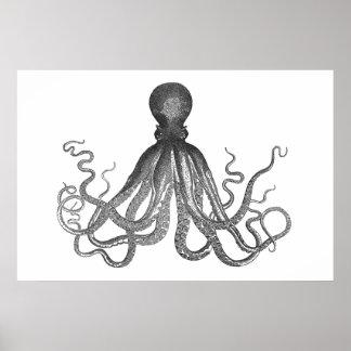 Kraken - poulpe géant noir/Cthulu