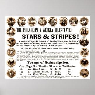 Krant van de Sterren & van de Strepen van Poster