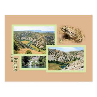 Krupa river, la Croatie, la carte de lettre