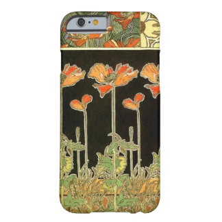 Kunst décoratifs (oranje bloemen) door Alphonse Barely There iPhone 6 Hoesje