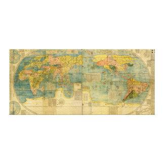 Kunyu Wanguo Quantu 1602 de Japanse Kaart van de Canvas Afdrukken