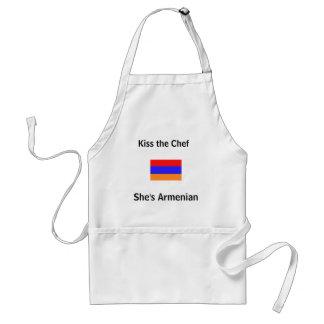 Kus de Chef-kok, is zij Armeens Standaard Schort