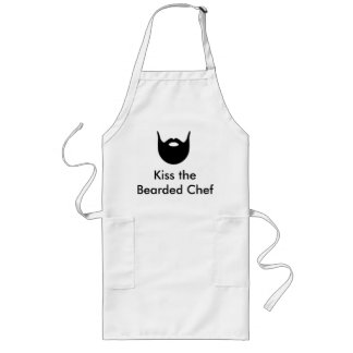 Kus de Gebaarde Chef-kok - witte schort
