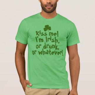 Kus me, ben ik Iers, Drink, wat T Shirt
