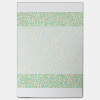 Kust Munt Groene Vintage Franse Scrollwork Post-it® Notes