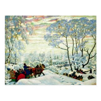 Kustodiev - hiver carte postale