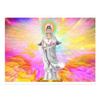 Kwan Yin de Godin van Medeleven met Roze Briefkaart